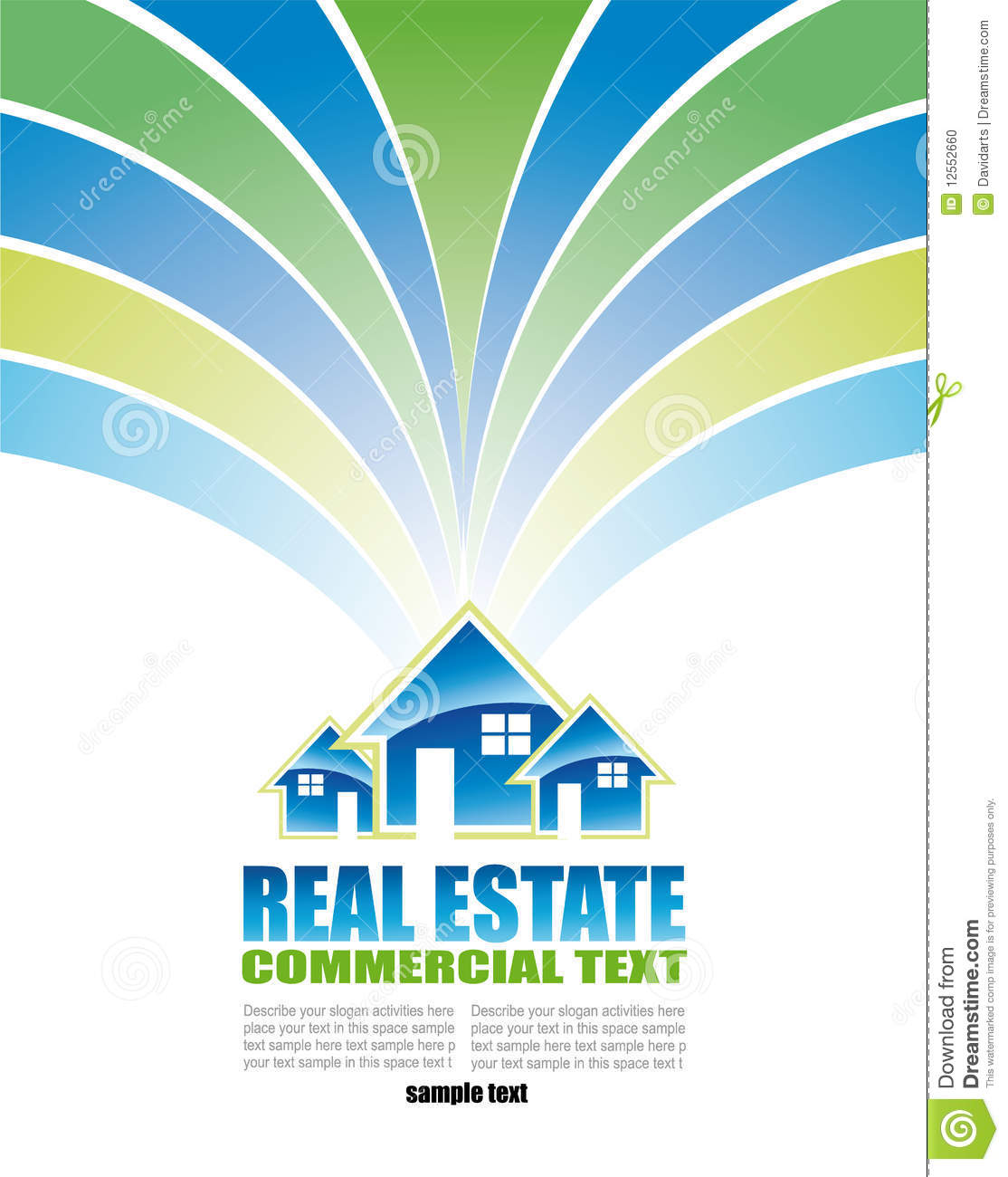 real estate background for brochure of flyers stock photo