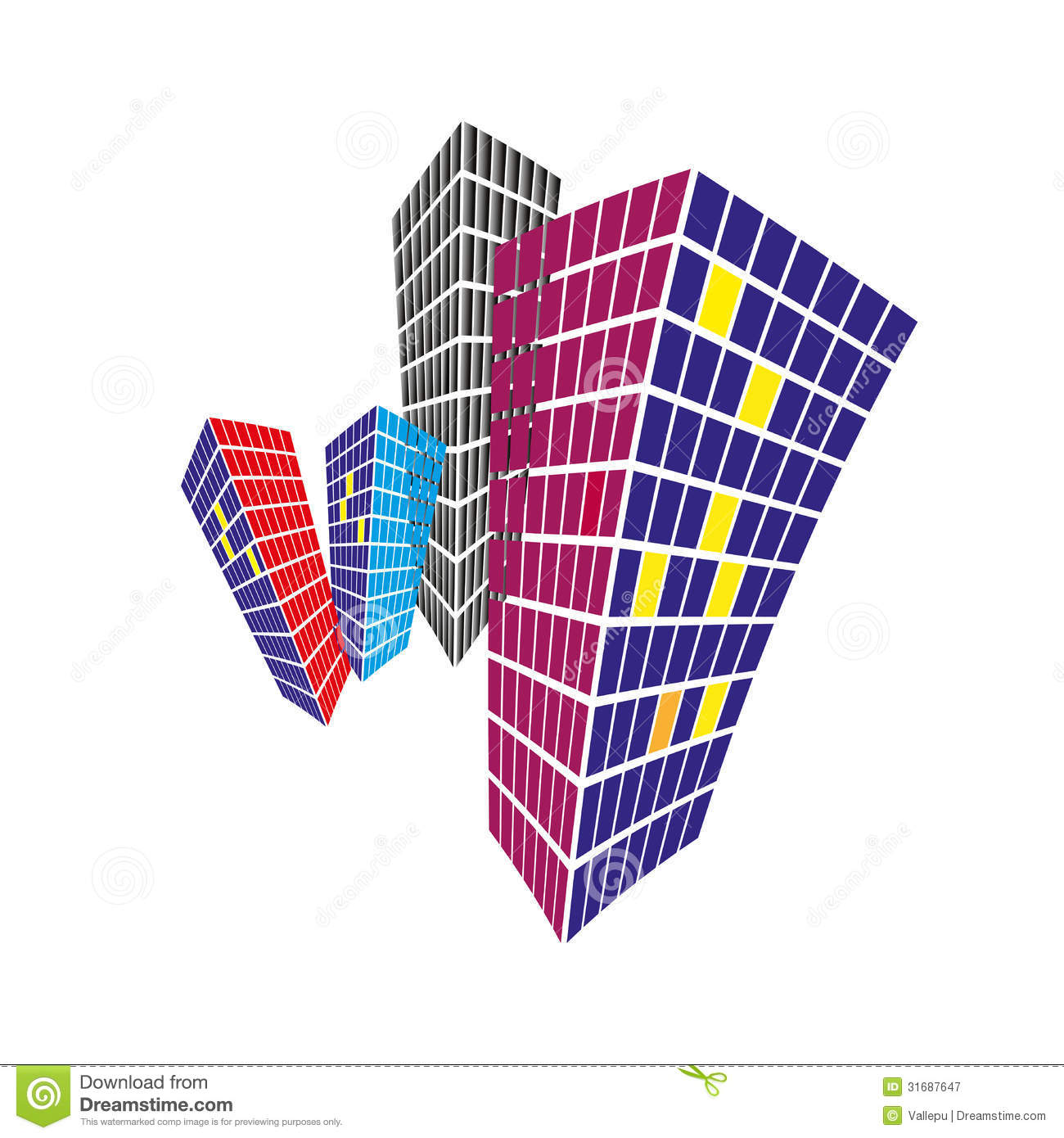 Commercial Property Background : Real estate background and logo design royalty free stock