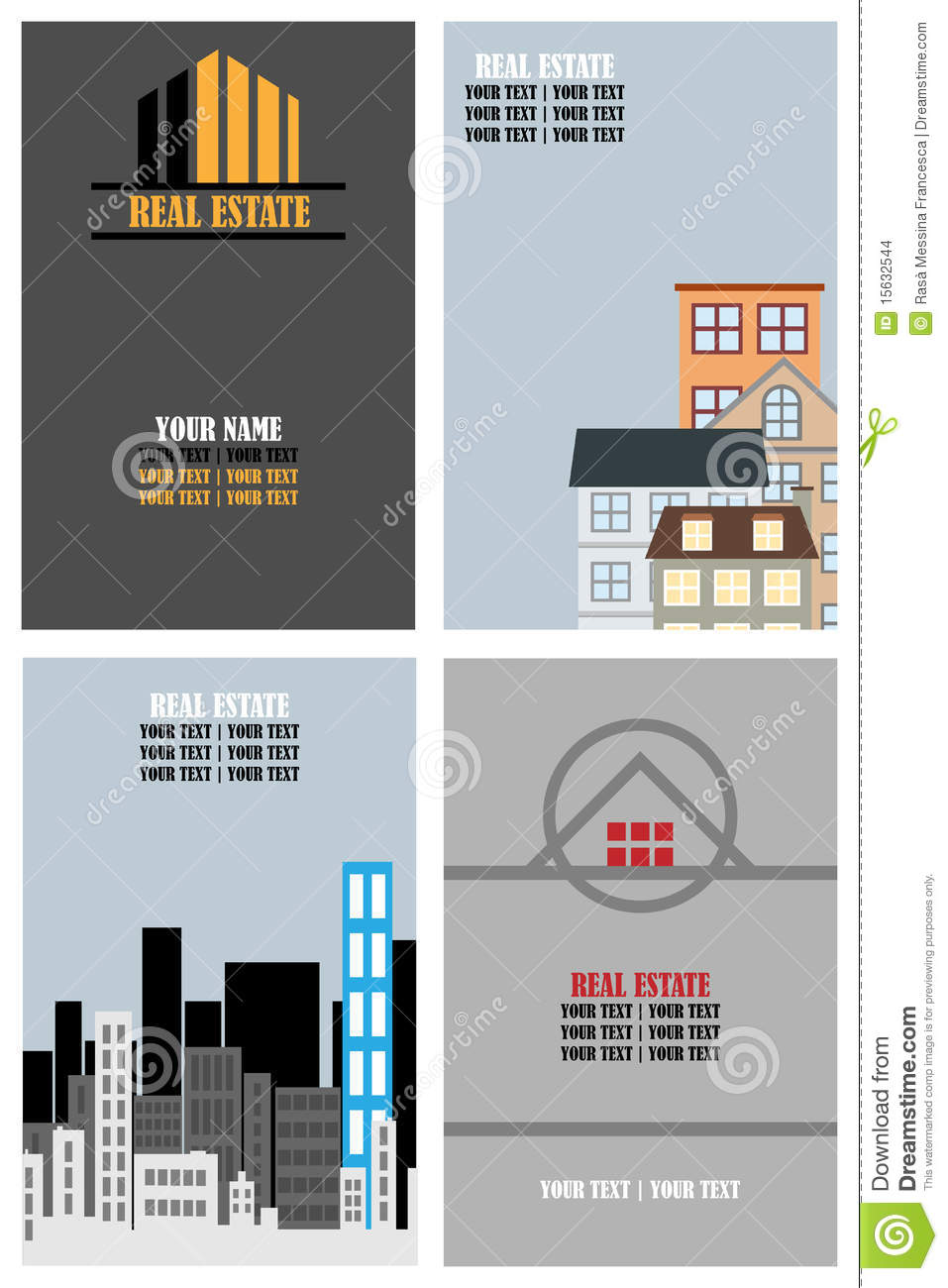 Real Estate Business Cards Stock Images Image 15632544