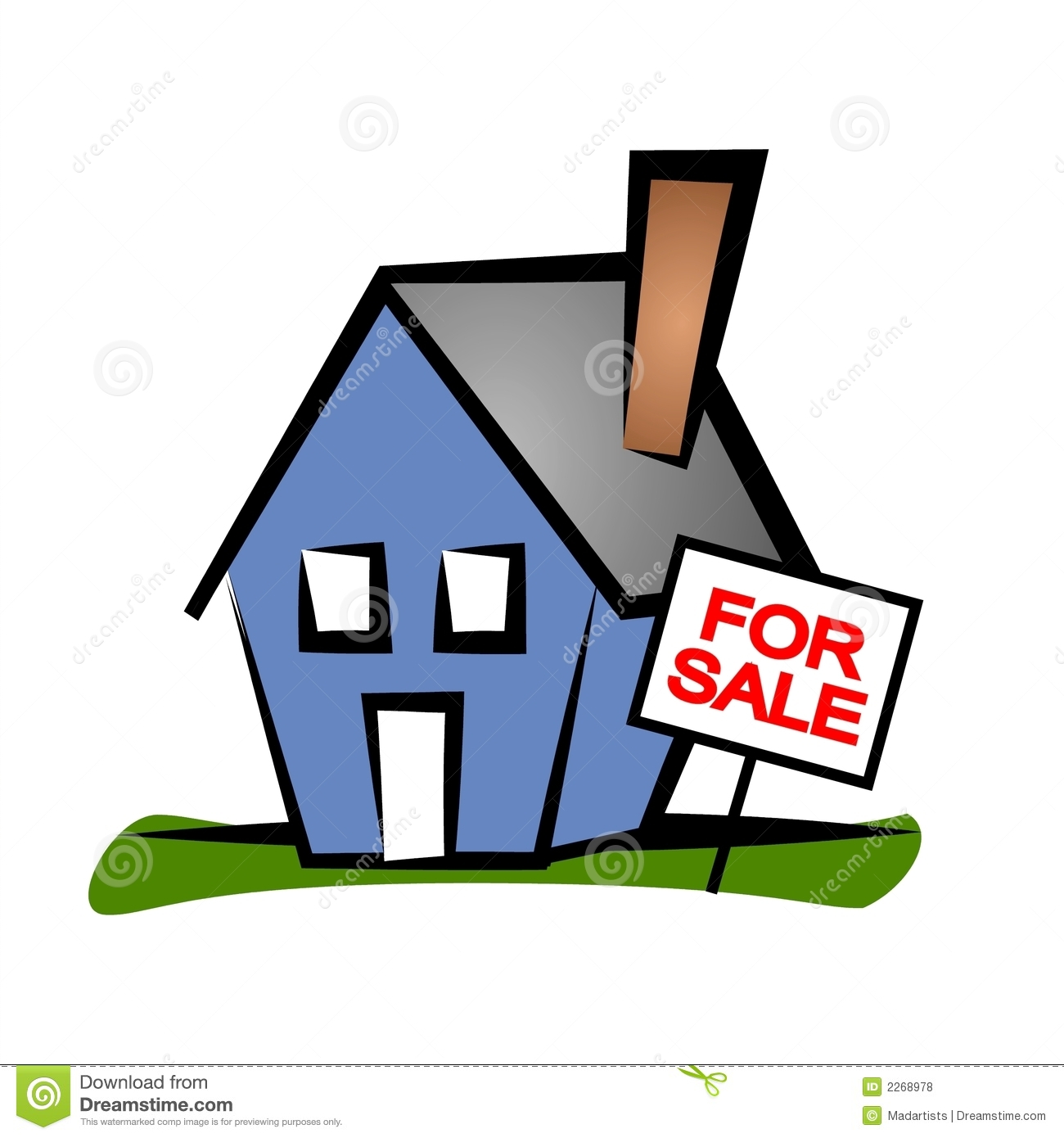 Real Estate Clip Art House Stock Illustration Image - New home clipart