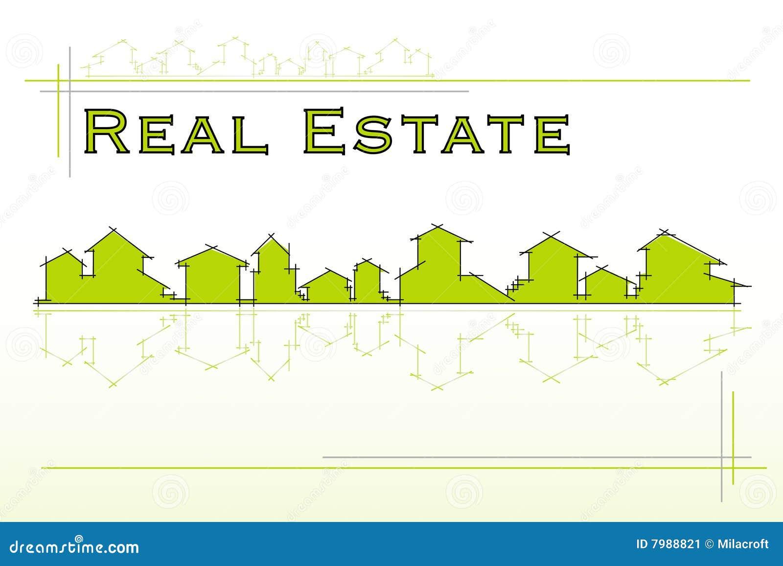 Real estate company stock image