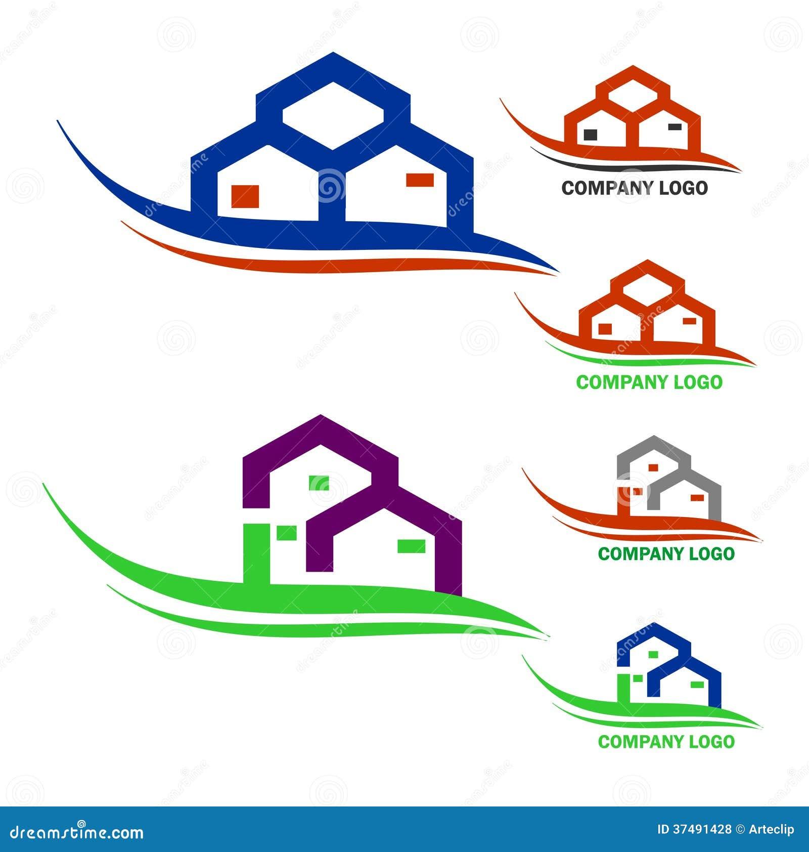 Real estate company logo royalty free stock photos image 37491428