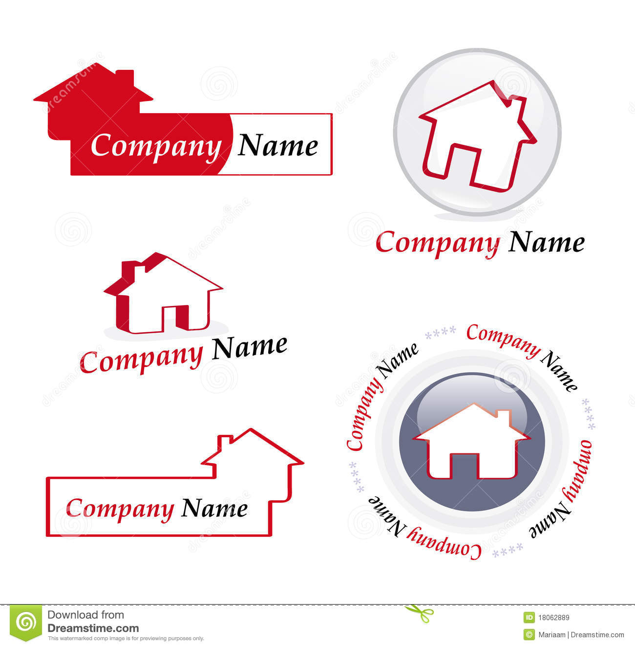 Real estate company logos royalty free stock images image 18062889