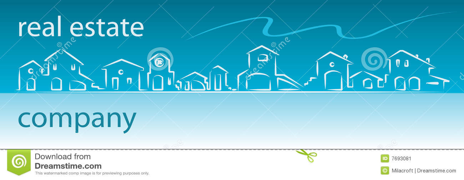 Real Estate Company Web Banner Stock Image Image 7693081