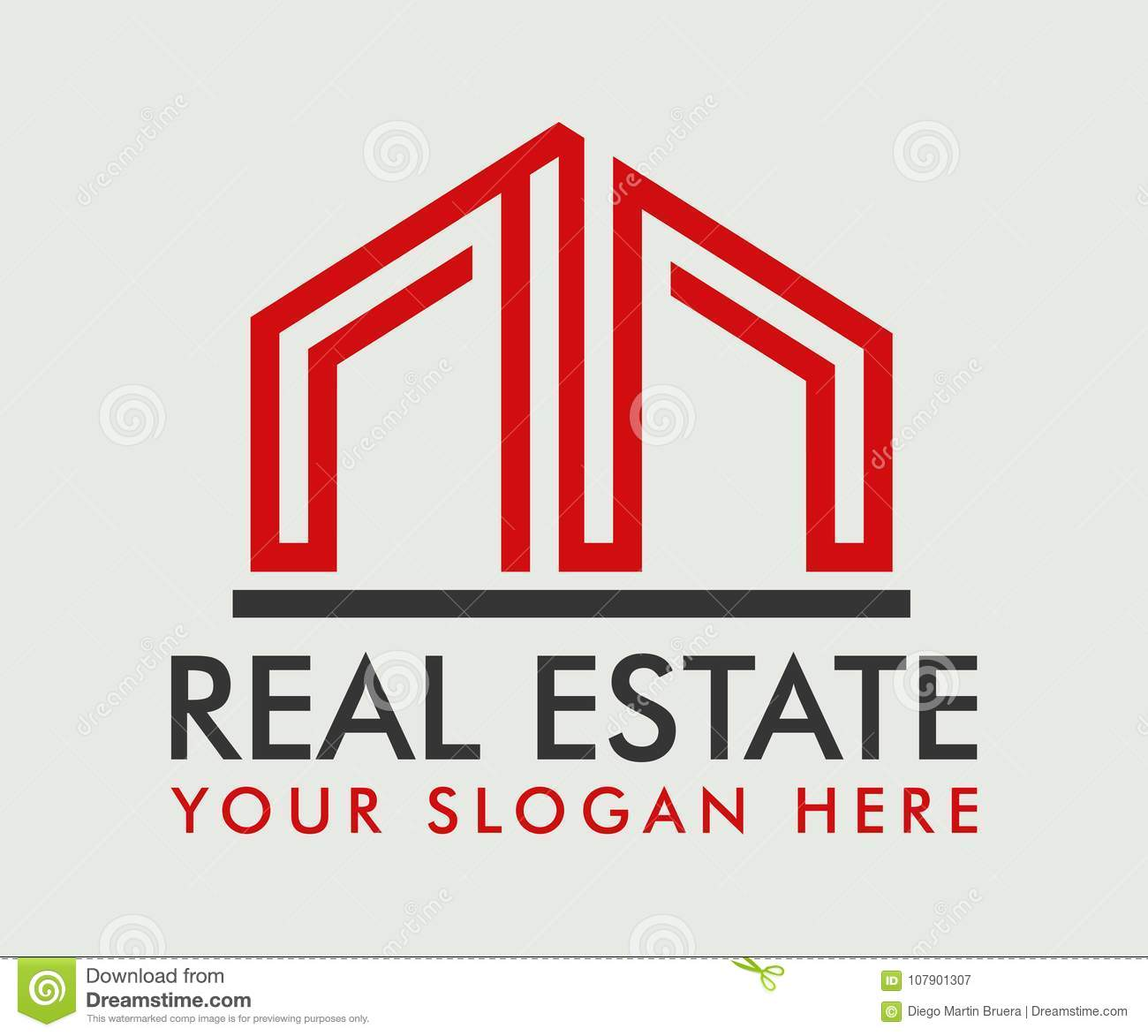 Real Estate, de Bouw, Bouw en Architectuur Logo Vector Design