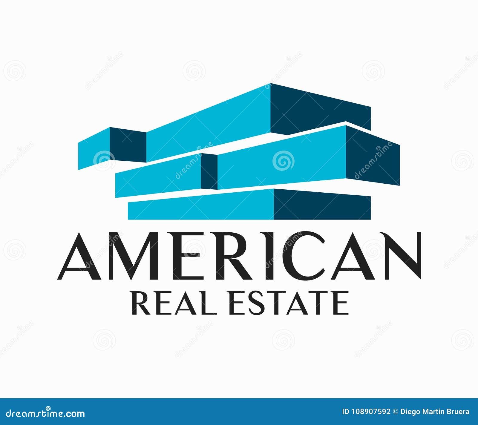 Real Estate, de Bouw, Bouw en Architectuur Logo Vector Design