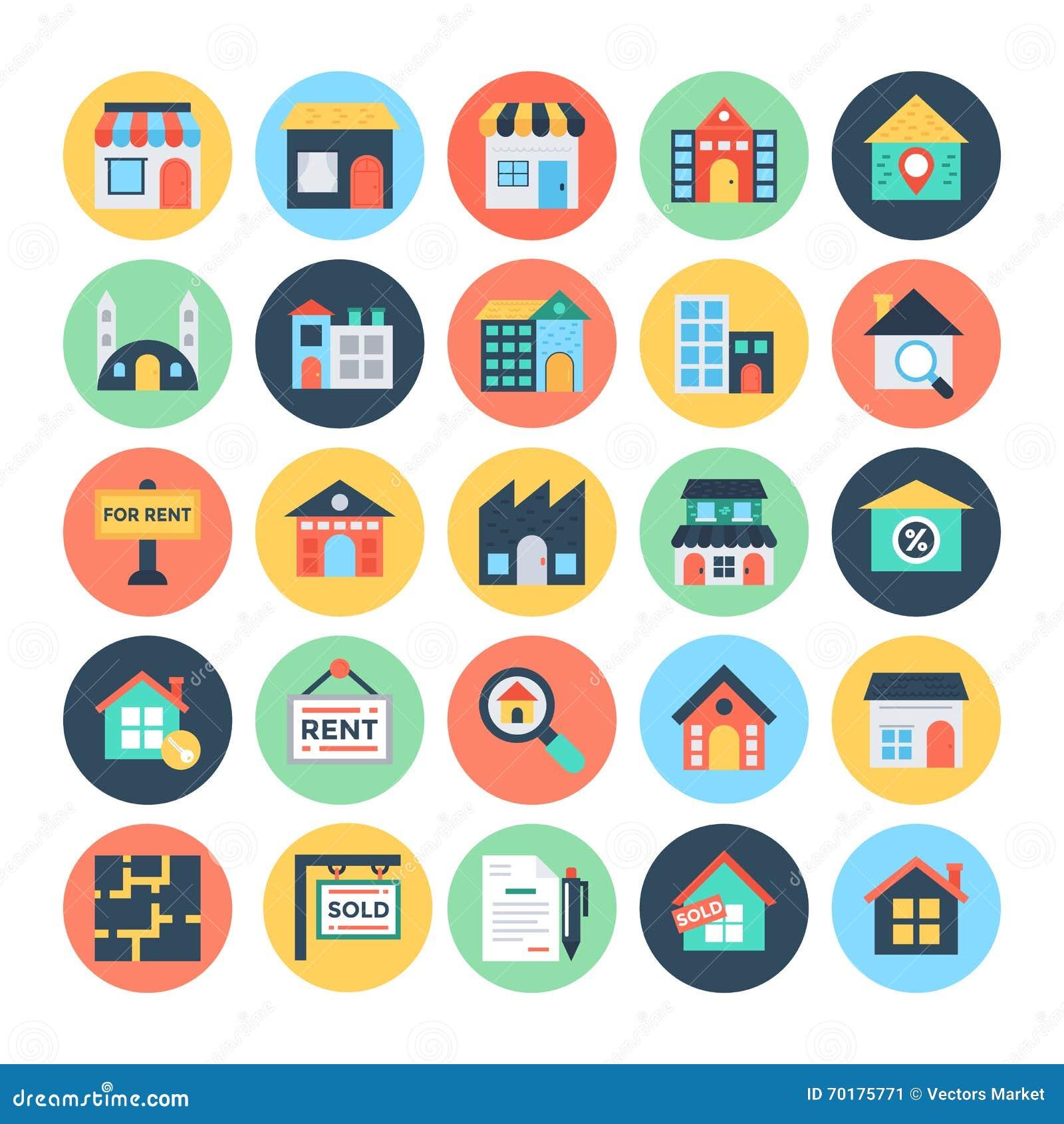 Real Estate dirigent les icônes 1