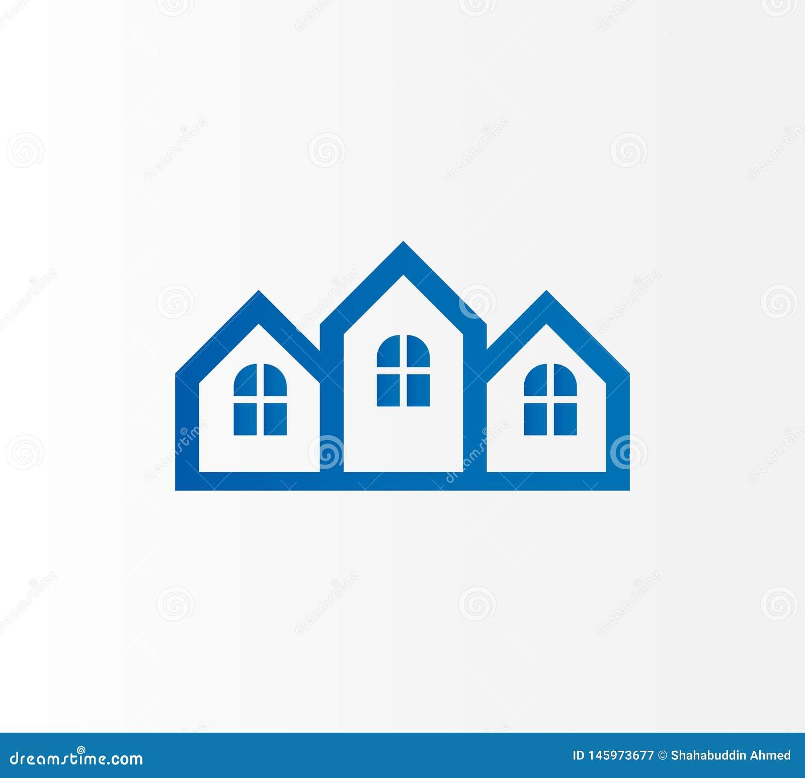 Real Estate, edificio, dise?o del logotipo de la mezquita E
