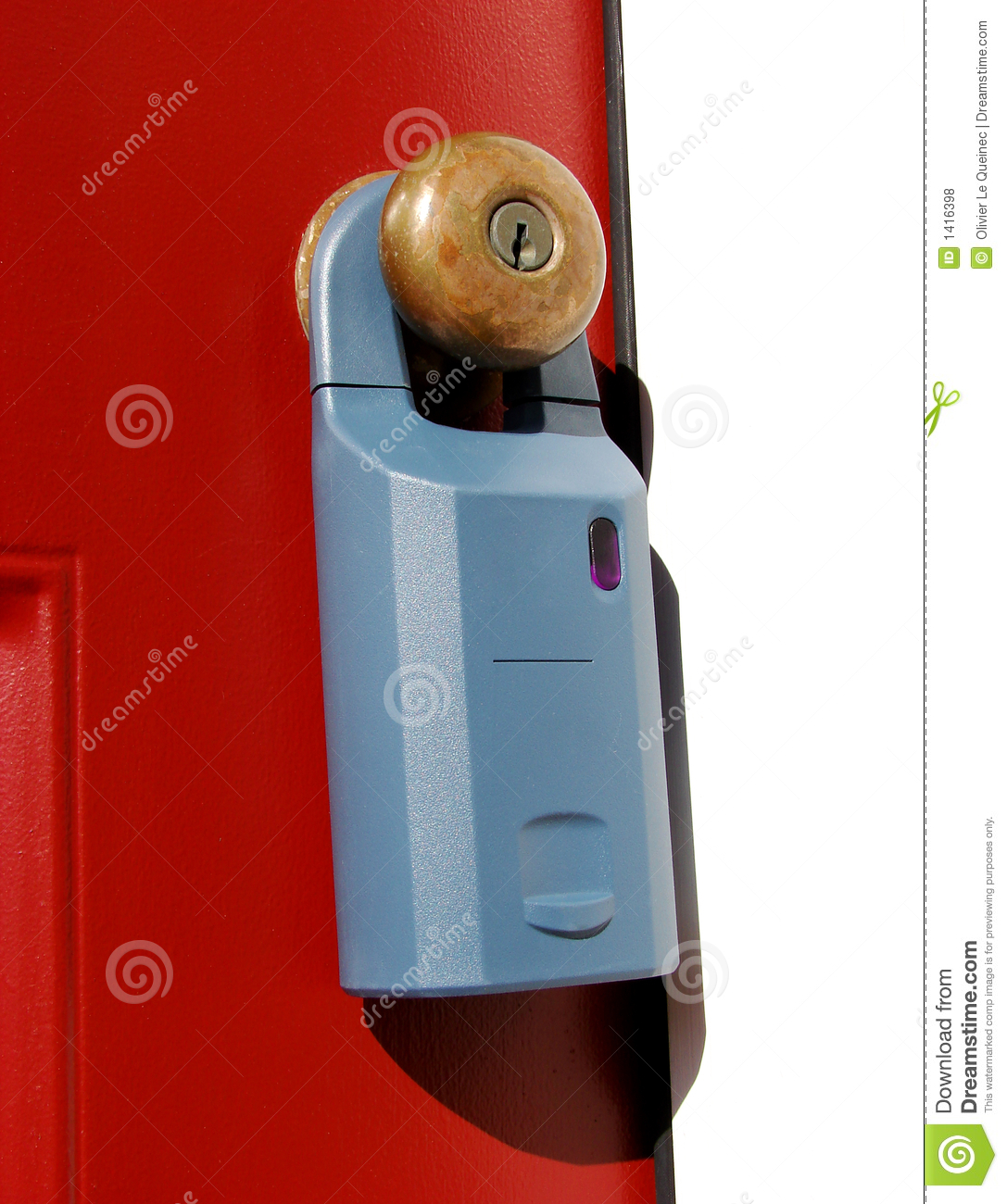 Real Estate Electronic Lock Box On A Door Royalty Free