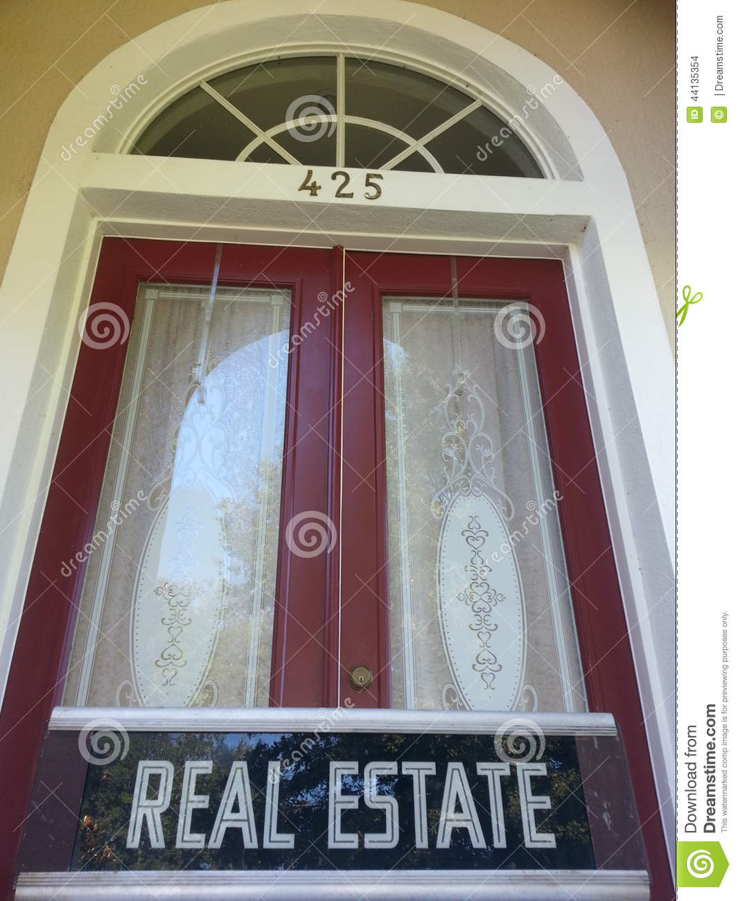 Front Door Estates: Real Estate Front Door Stock Photo