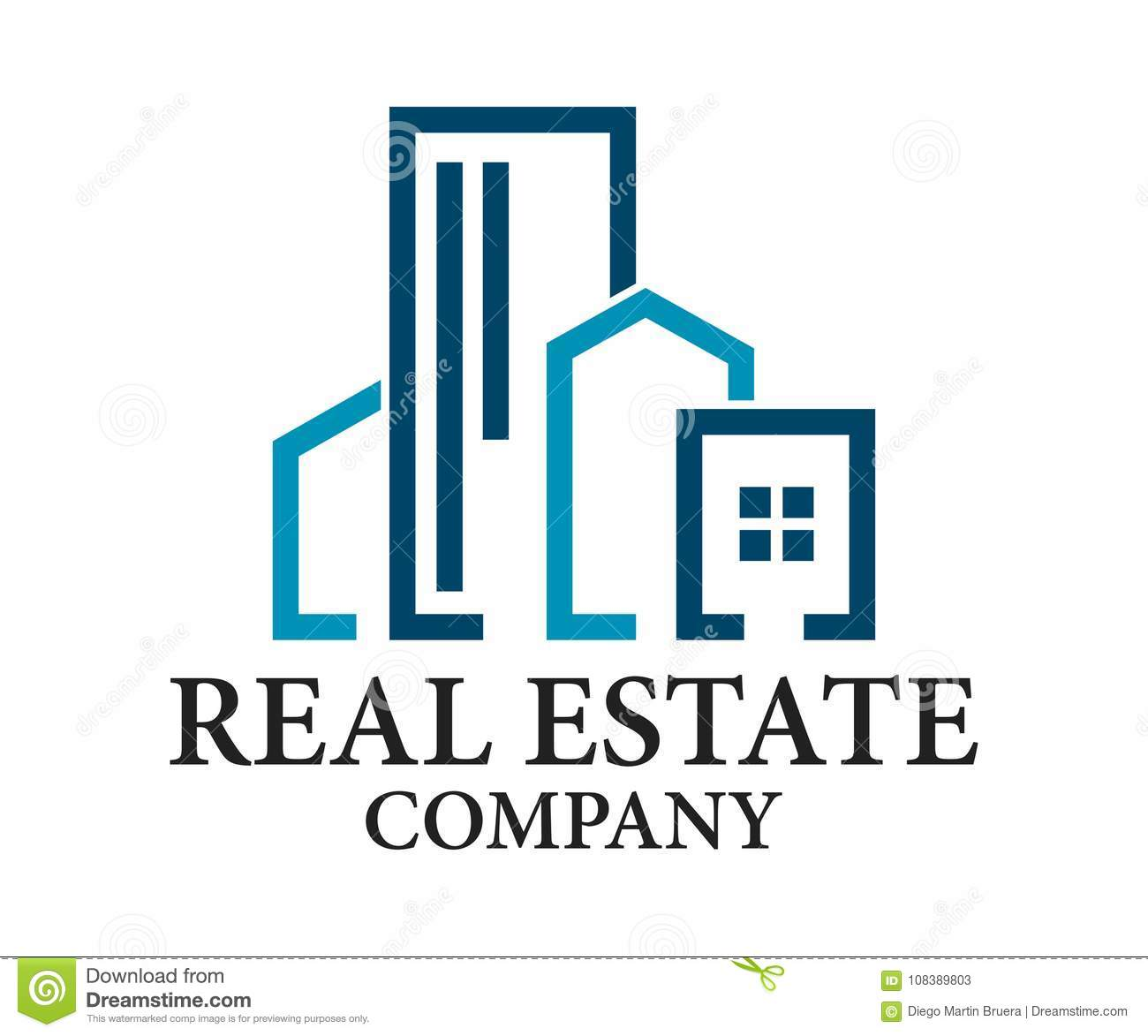 Real Estate, Gebäude, Bau und Architektur Logo Vector Design