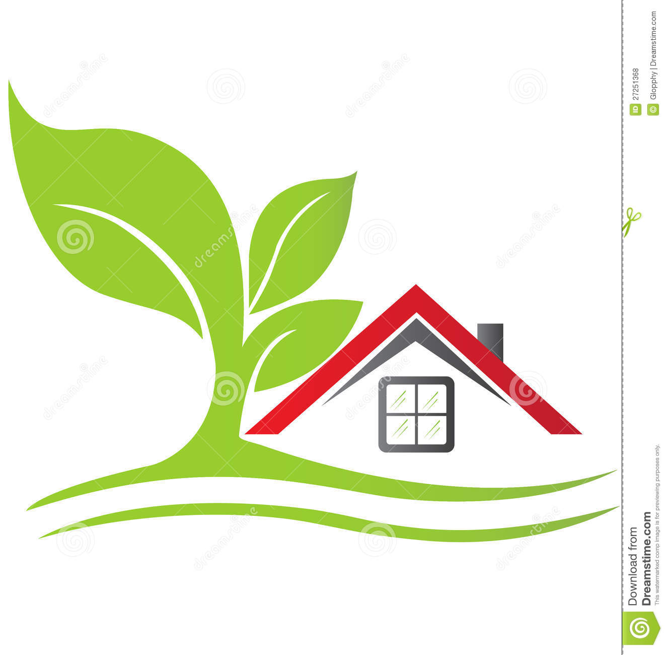 Real estate house logo vector stock vector illustration for House images free download