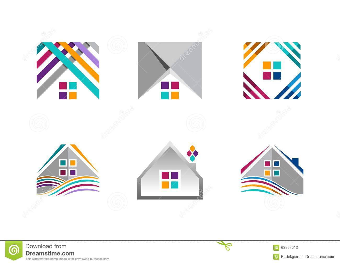Real estate house logo building apartment icons for Apartment logo design