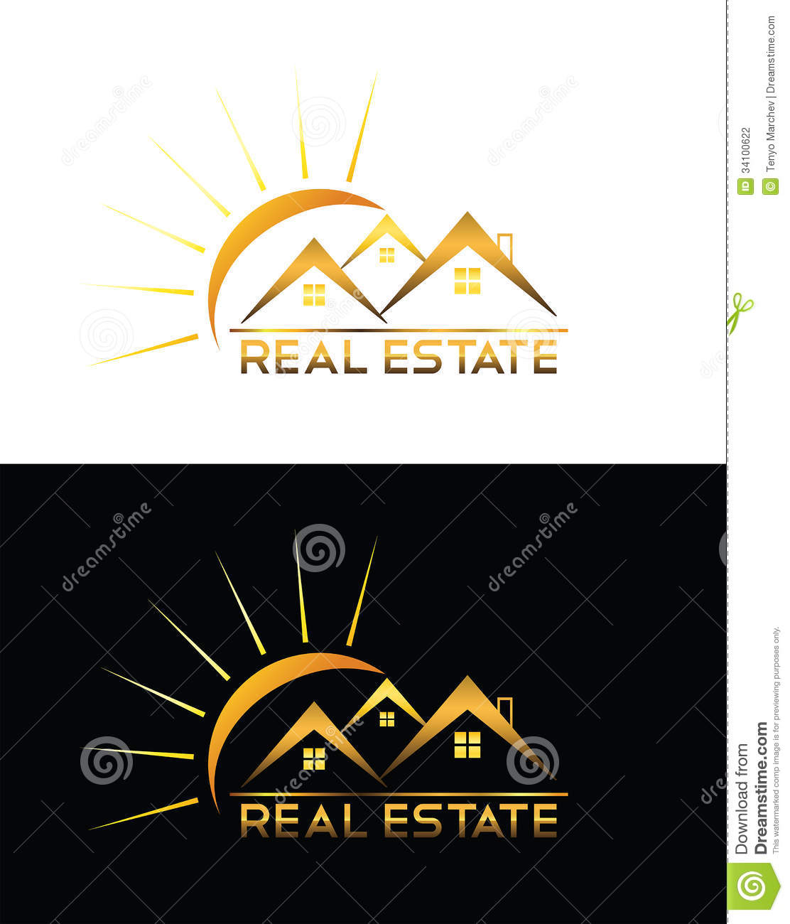 Real estate house logo stock photography image 34100622 for Modern house logo