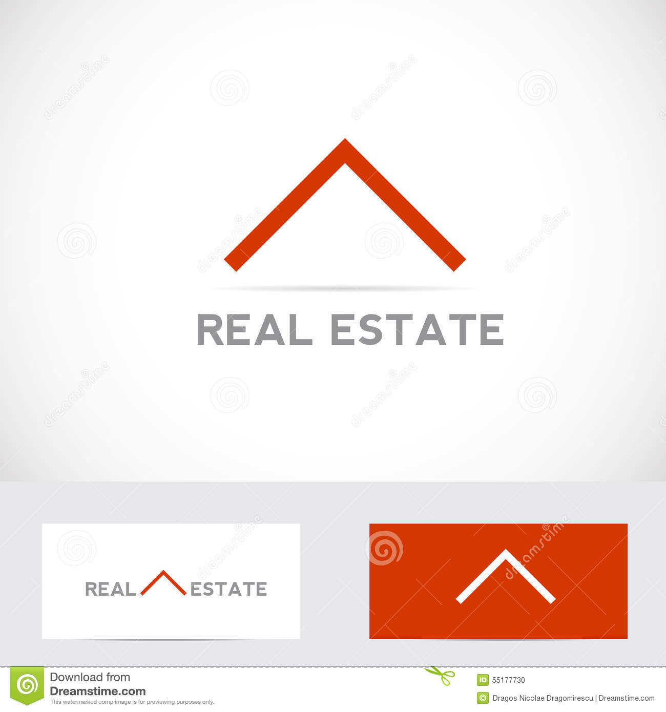 Real estate house logo stock vector illustration of real for Minimalist house logo
