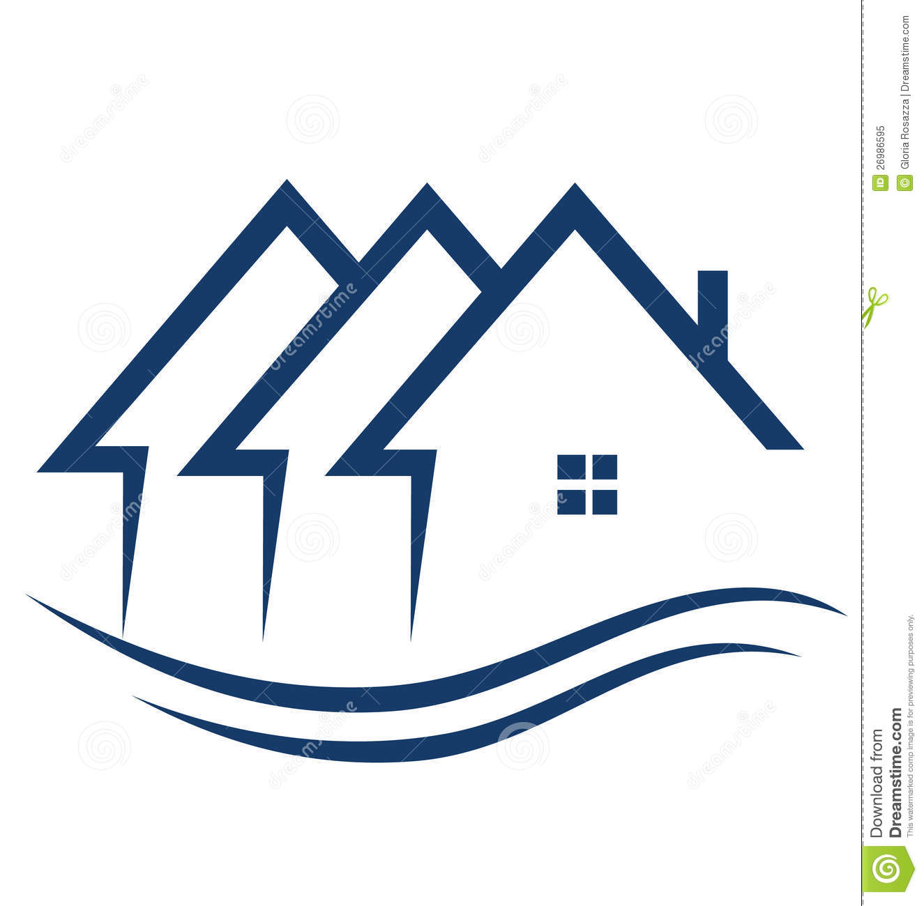 Real Estate Houses Logo Royalty Free Stock Photo Image 26986595