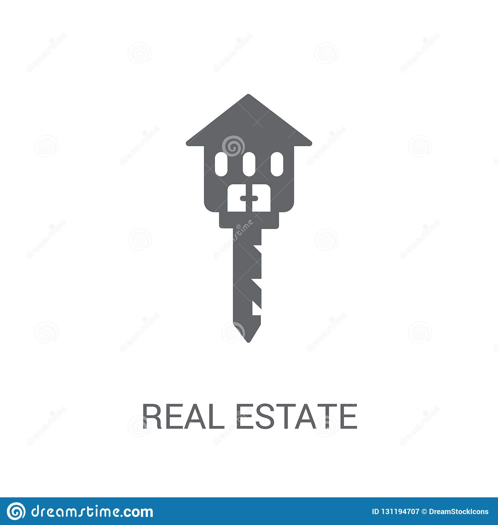 Real estate icon. Trendy Real estate logo concept on white background from Real Estate collection
