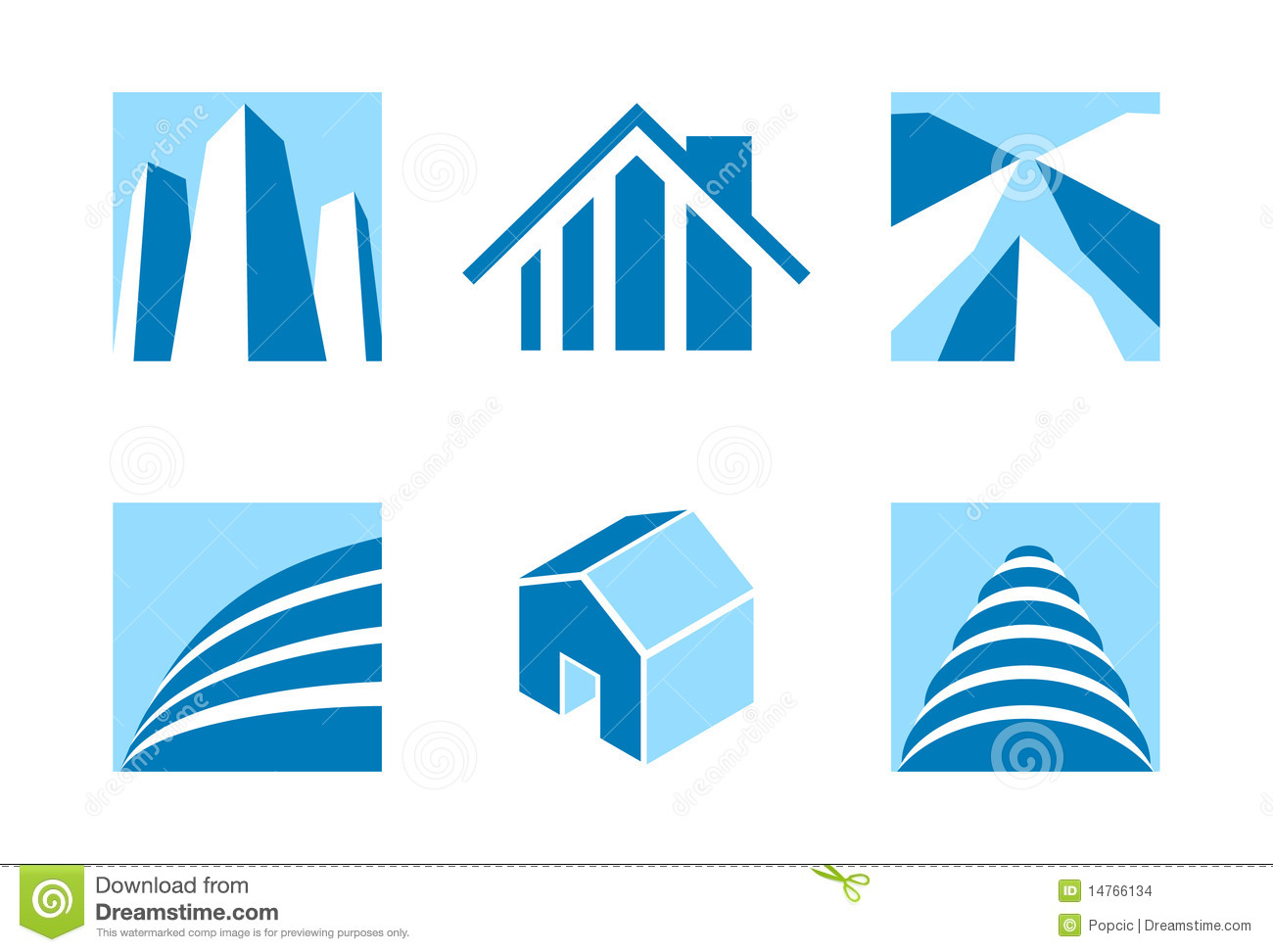 Real Estate Icons 2 Stock Images - Image: 14766134