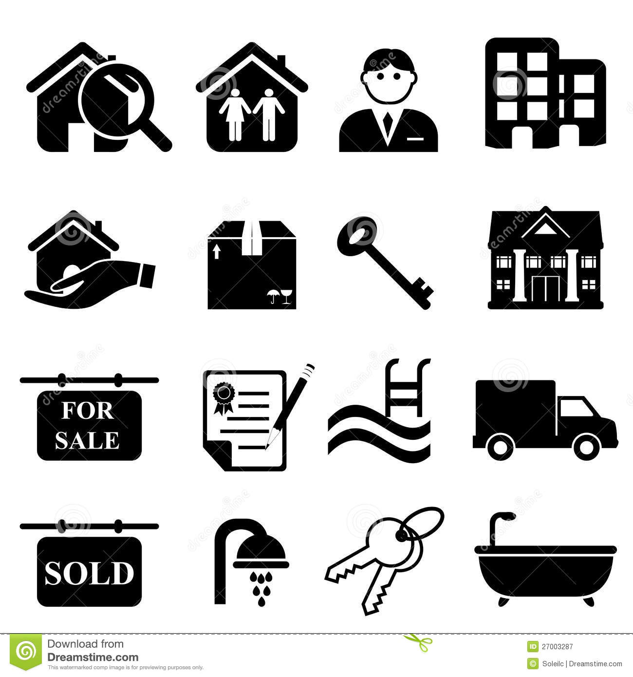 Real Estate Icons Royalty Free Stock Photography - Image: 27003287