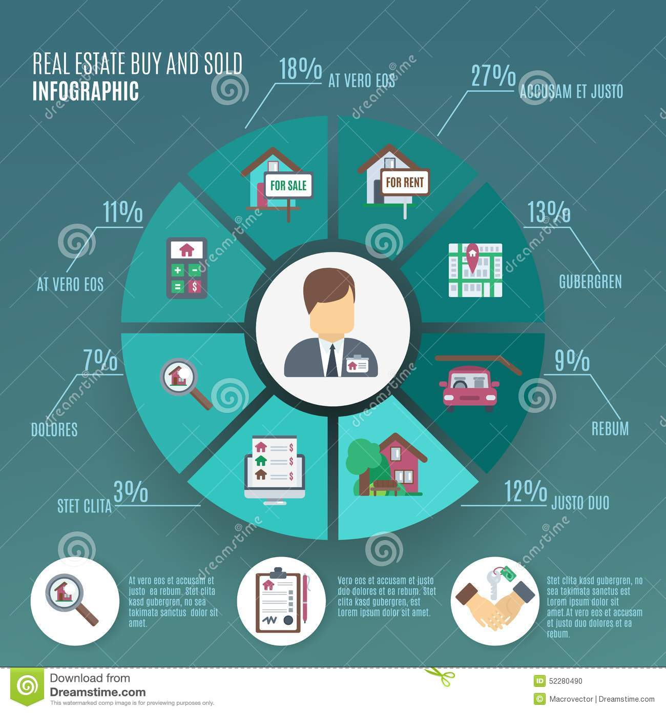 real estate infographic stock vector image 52280490
