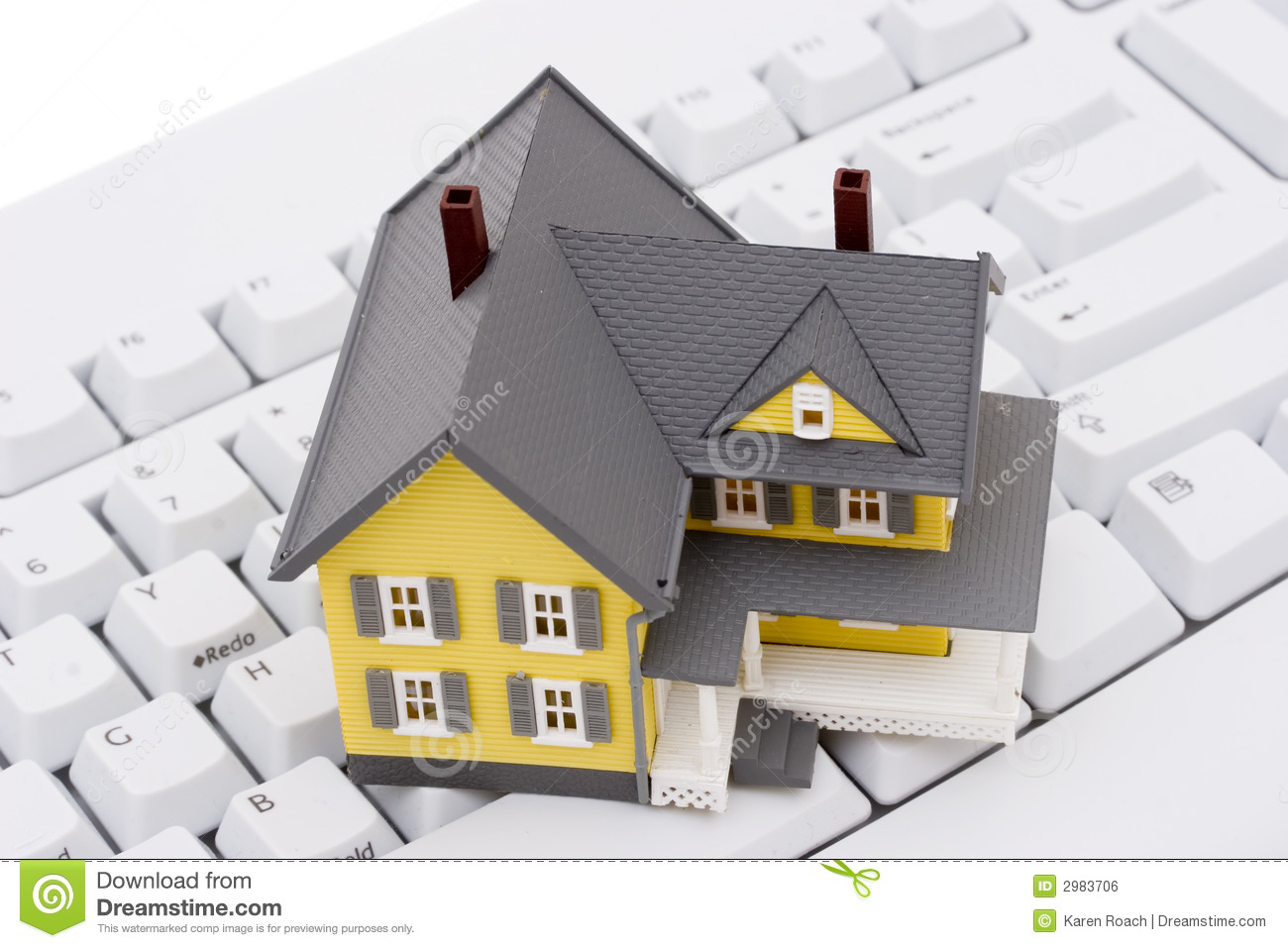 Real Estate On The Internet Royalty Free Stock Image