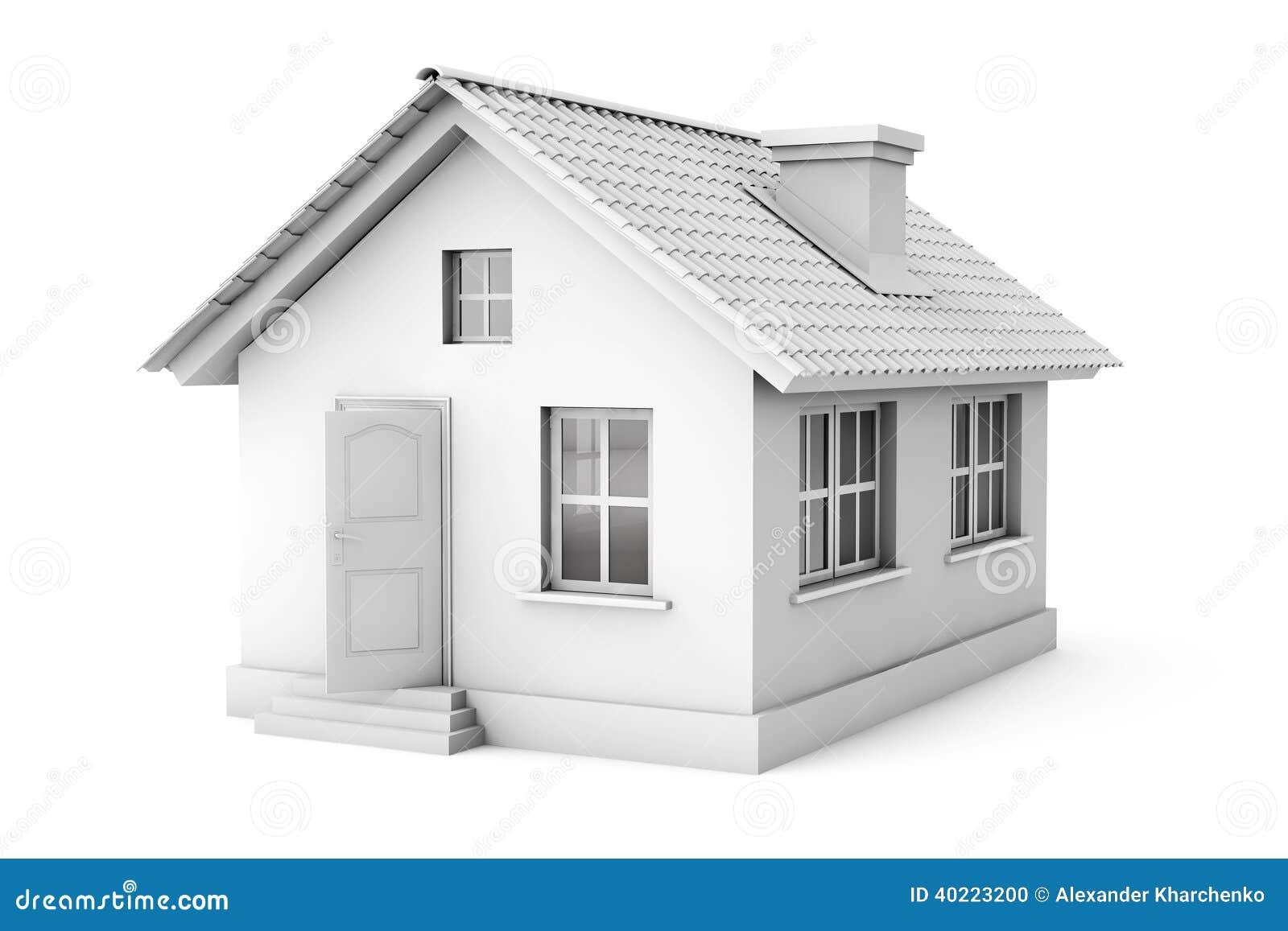 real estate konzept haus 3d stock abbildung bild 40223200. Black Bedroom Furniture Sets. Home Design Ideas