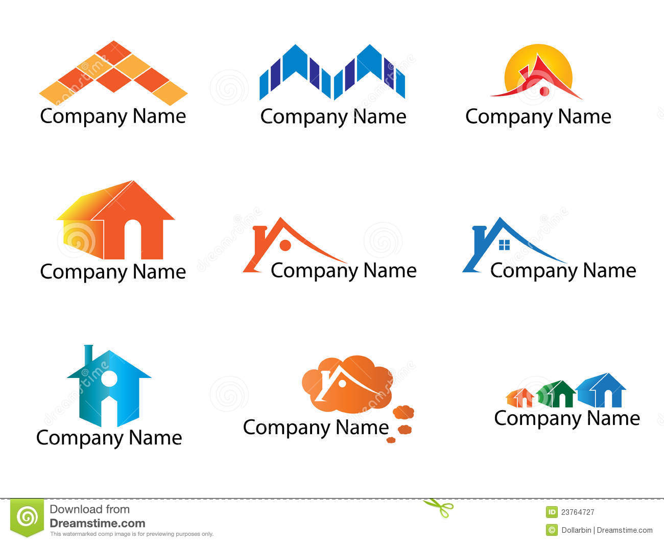 Real estate logo stock vector  Illustration of point - 23764727