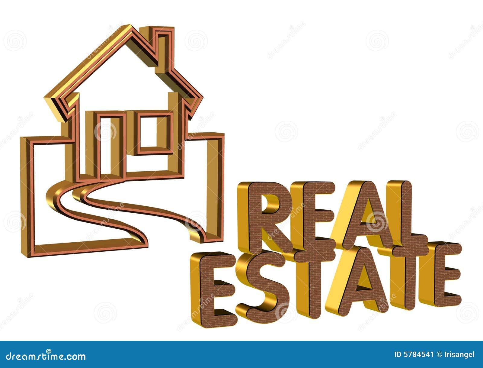 Real estate logo 3d brick face stock illustration image for Clipart estate