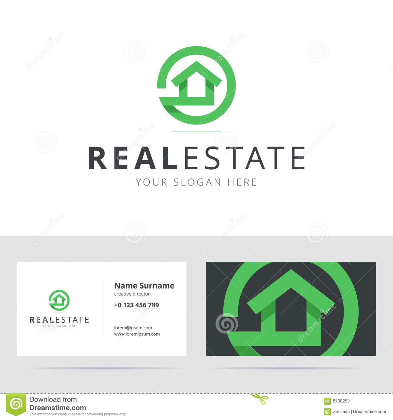 Real estate logo and business card template stock vector image real estate logo and business card template magicingreecefo Images
