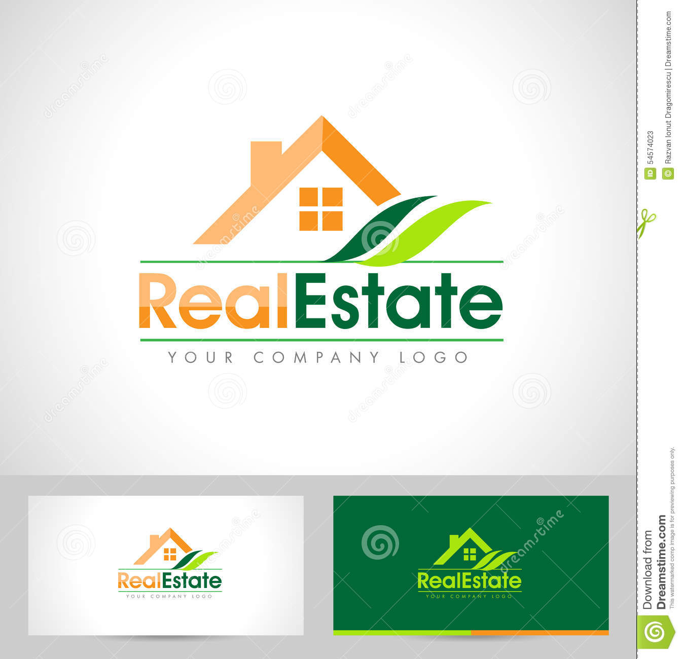 Real Estate Logo Design Stock Vector Image 54574023