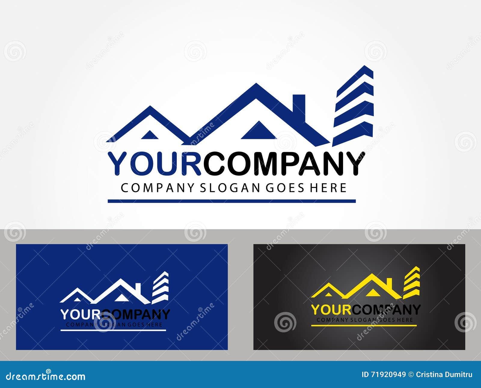 Real Estate Logo Design Stock Vector - Image: 71920949