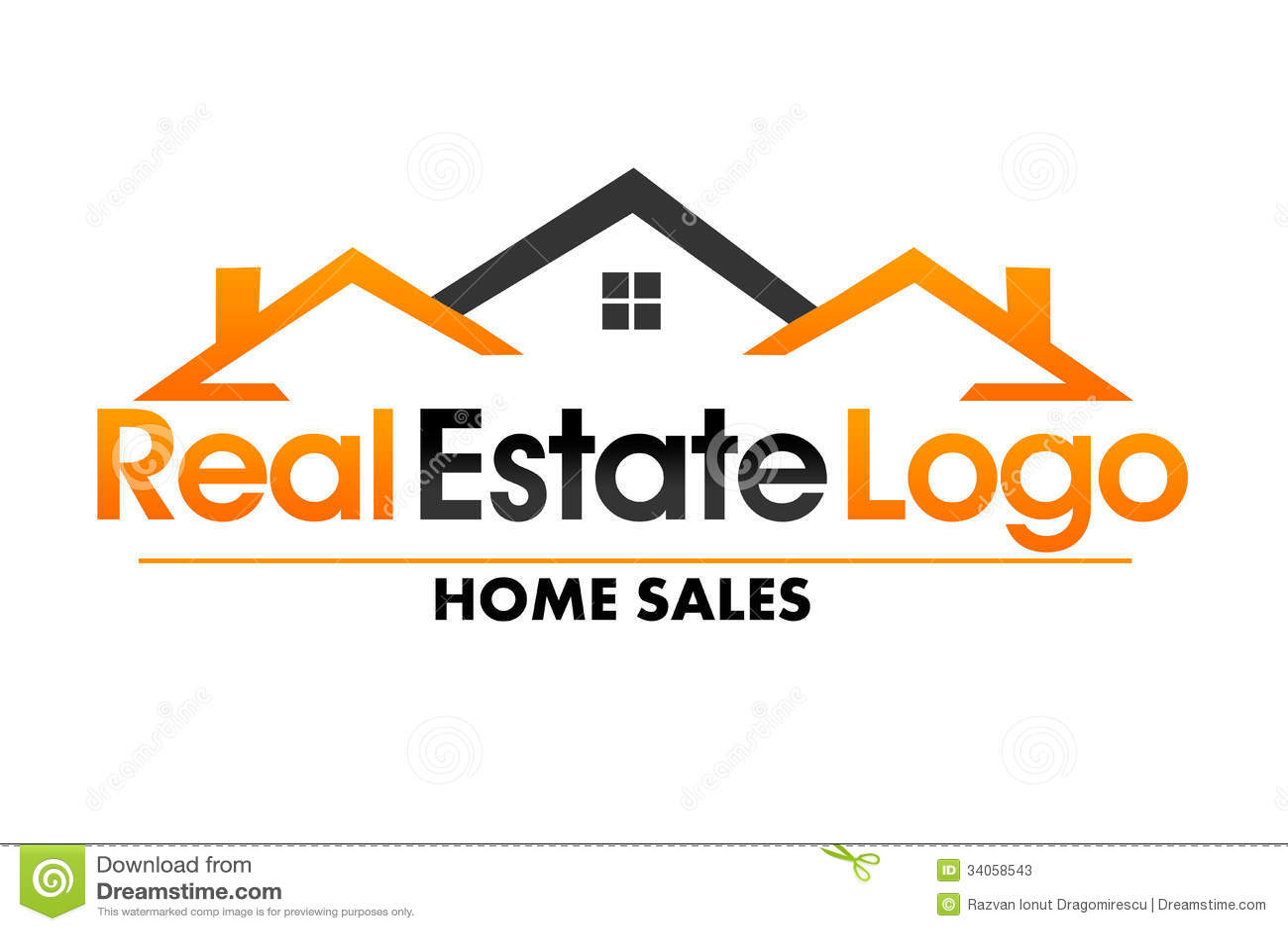 Real estate logo stock illustration illustration of for Clipart estate
