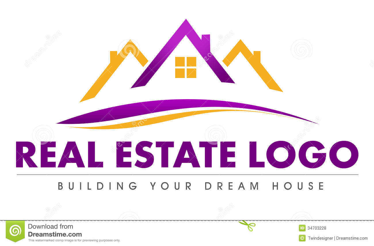 Illustration drawing representing a real estate logo made out of a ...