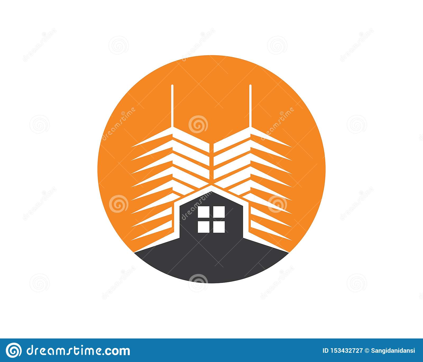 real estate modern city building vector template