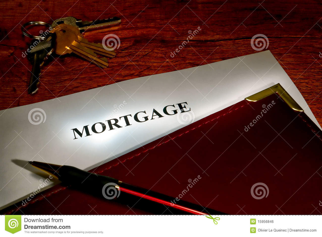 Real Estate Mortgage Lender Document and Keys