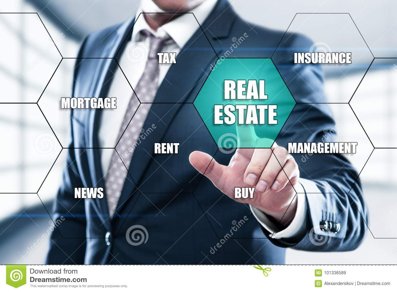 Real Estate Mortgage Property Management Rent Buy Concept