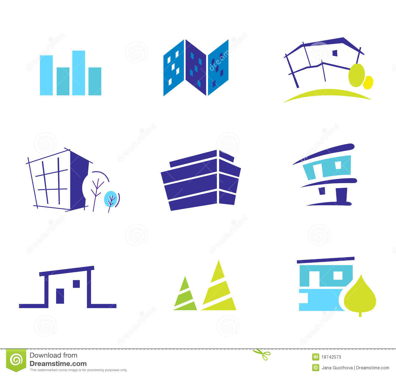Real estate nature and architecture icons stock photos for Architecture icon