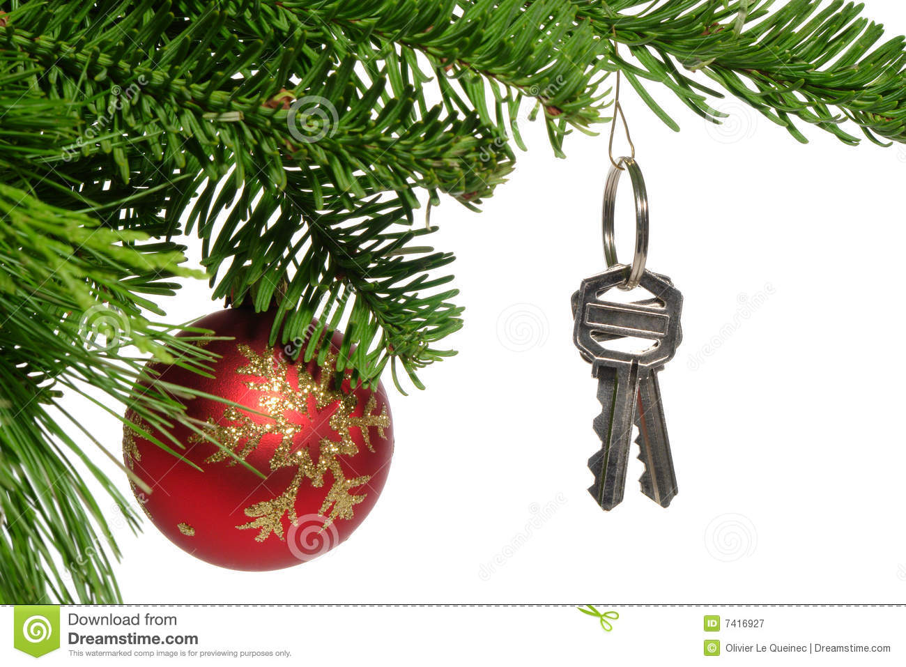 Real estate new home keys as christmas ornament royalty for Home ornaments