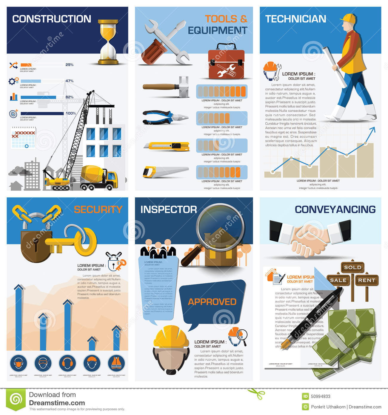 Diagram Of State Real Estate : Building and real estate icons infographic royalty free