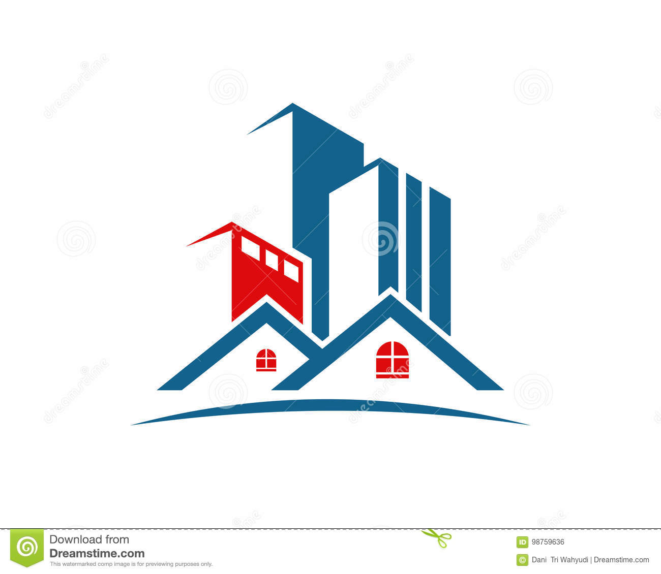 real estate property and construction logo design for
