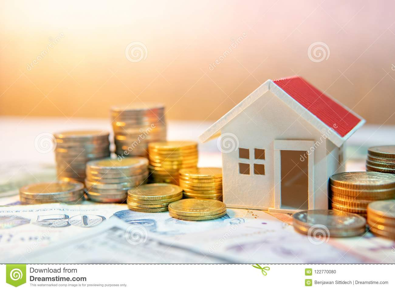 Real Estate Investment  Saving Money Concept Stock Photo