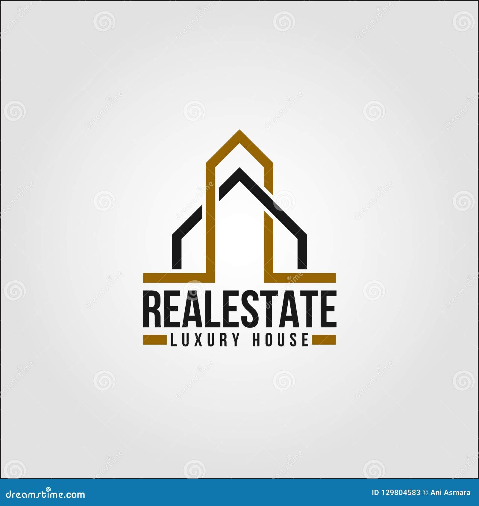 Real Estate - propriedade Logo Template de Elte