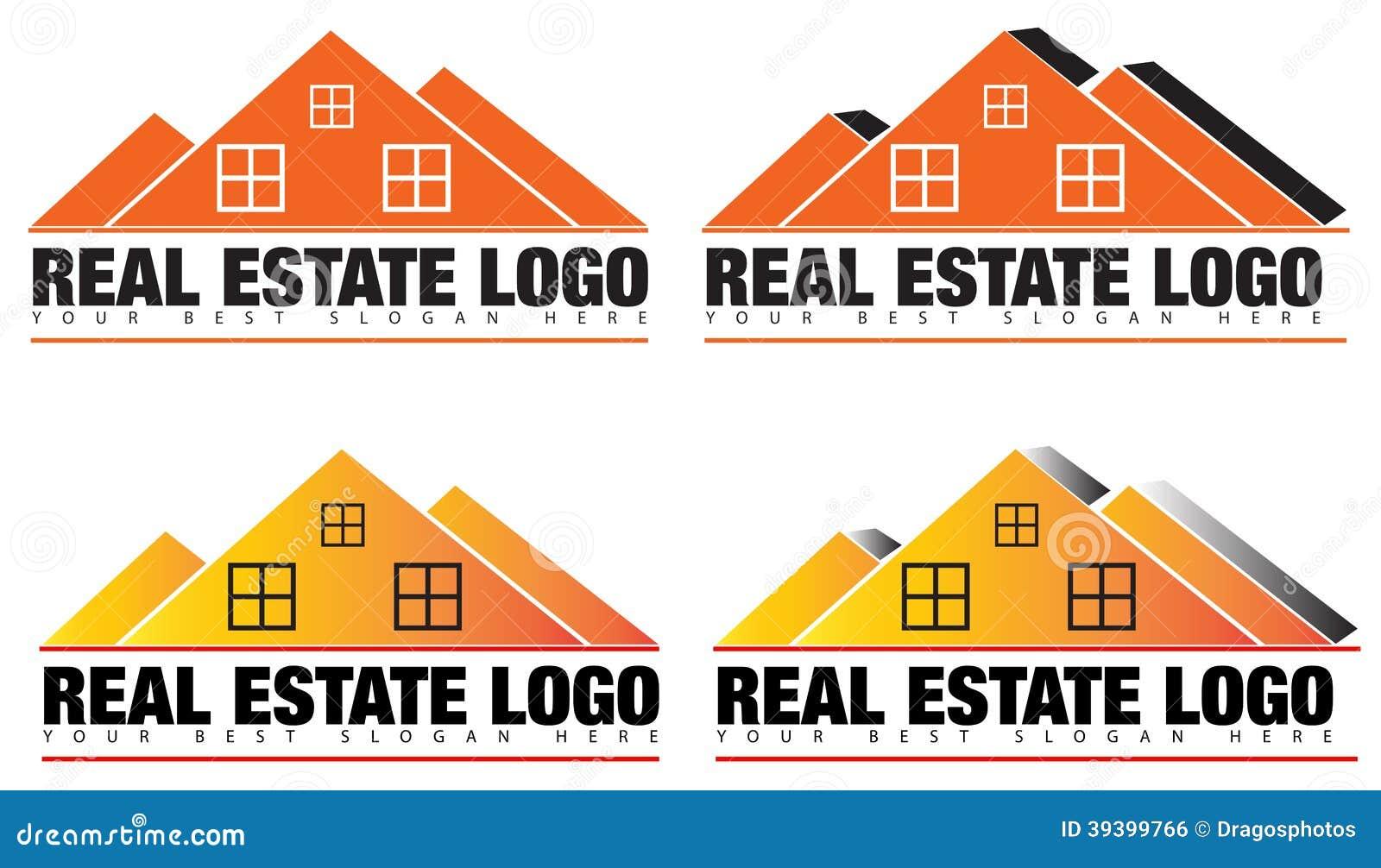 real estate or realtor logo vector stock illustration