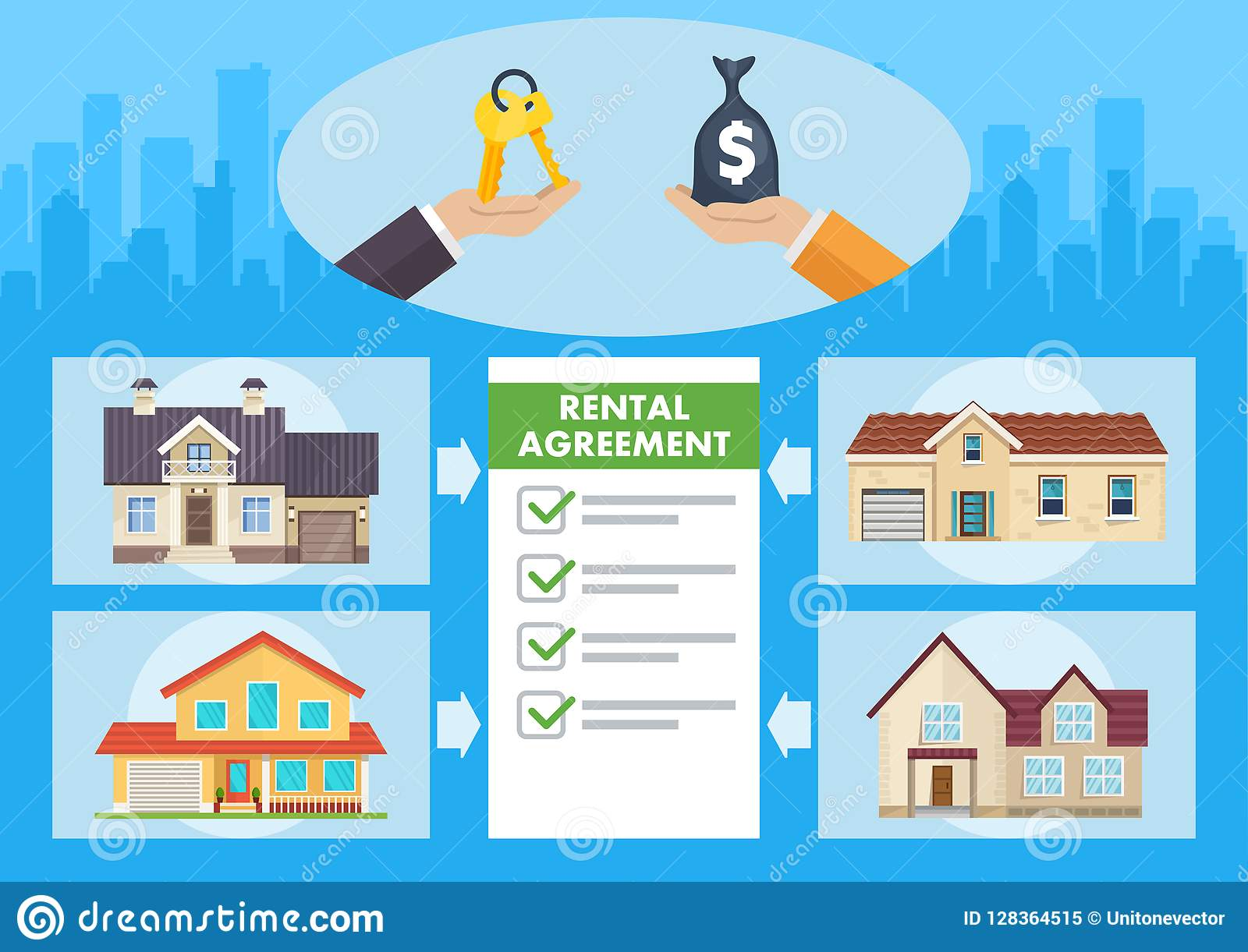 Real Estate servar Plan illustration för vektor