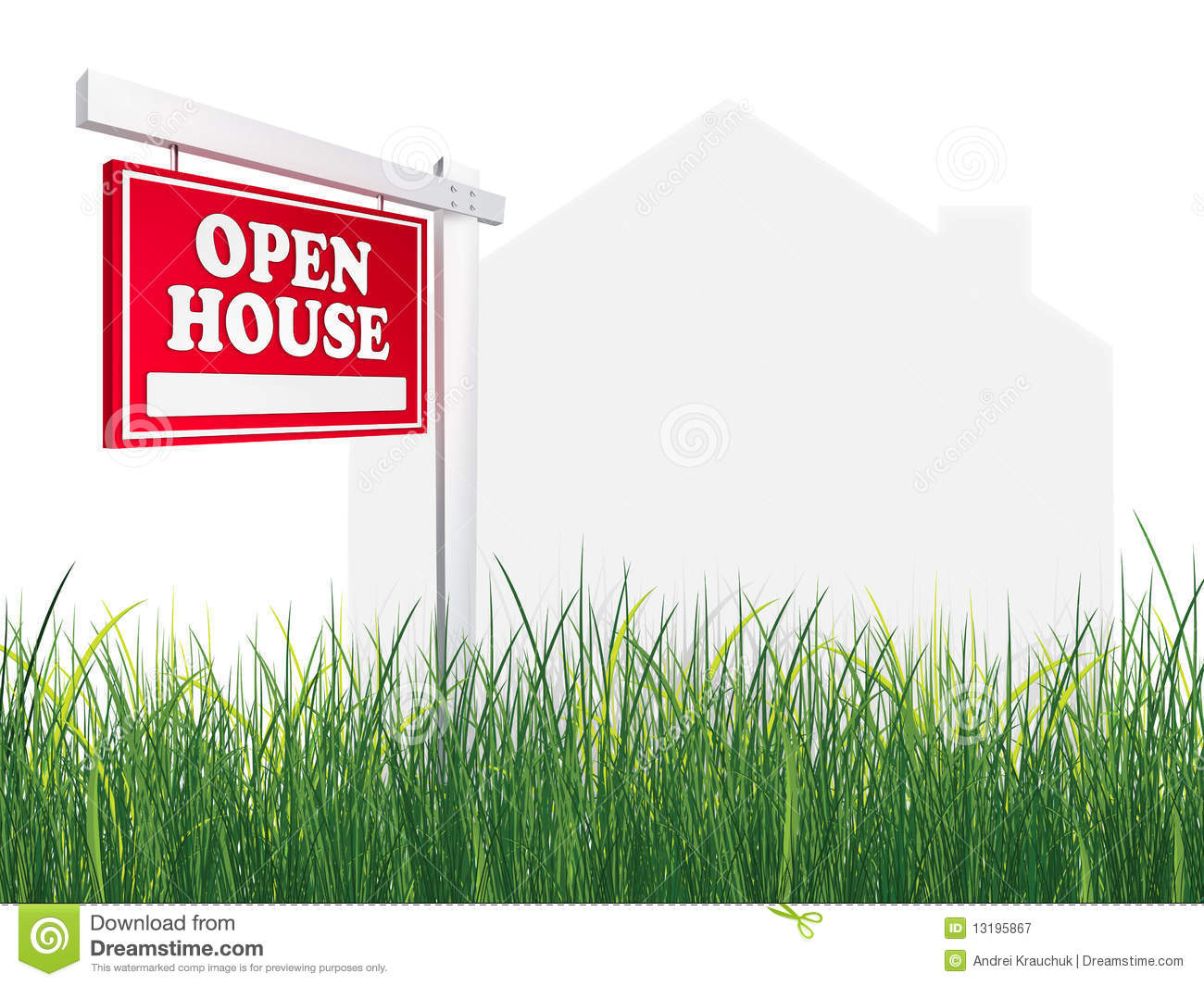 Real estate sign open house stock image image of for Open home
