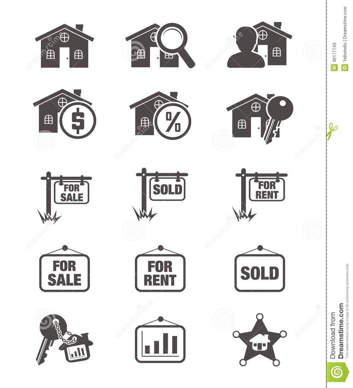 Real Estate Silhouette Icon Stock Vector Illustration Of