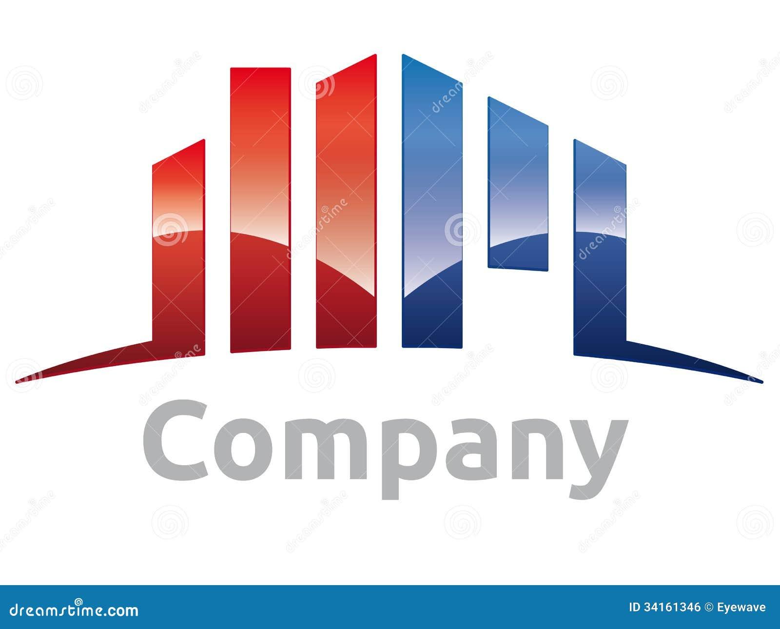 Glossy real estate company vector design element