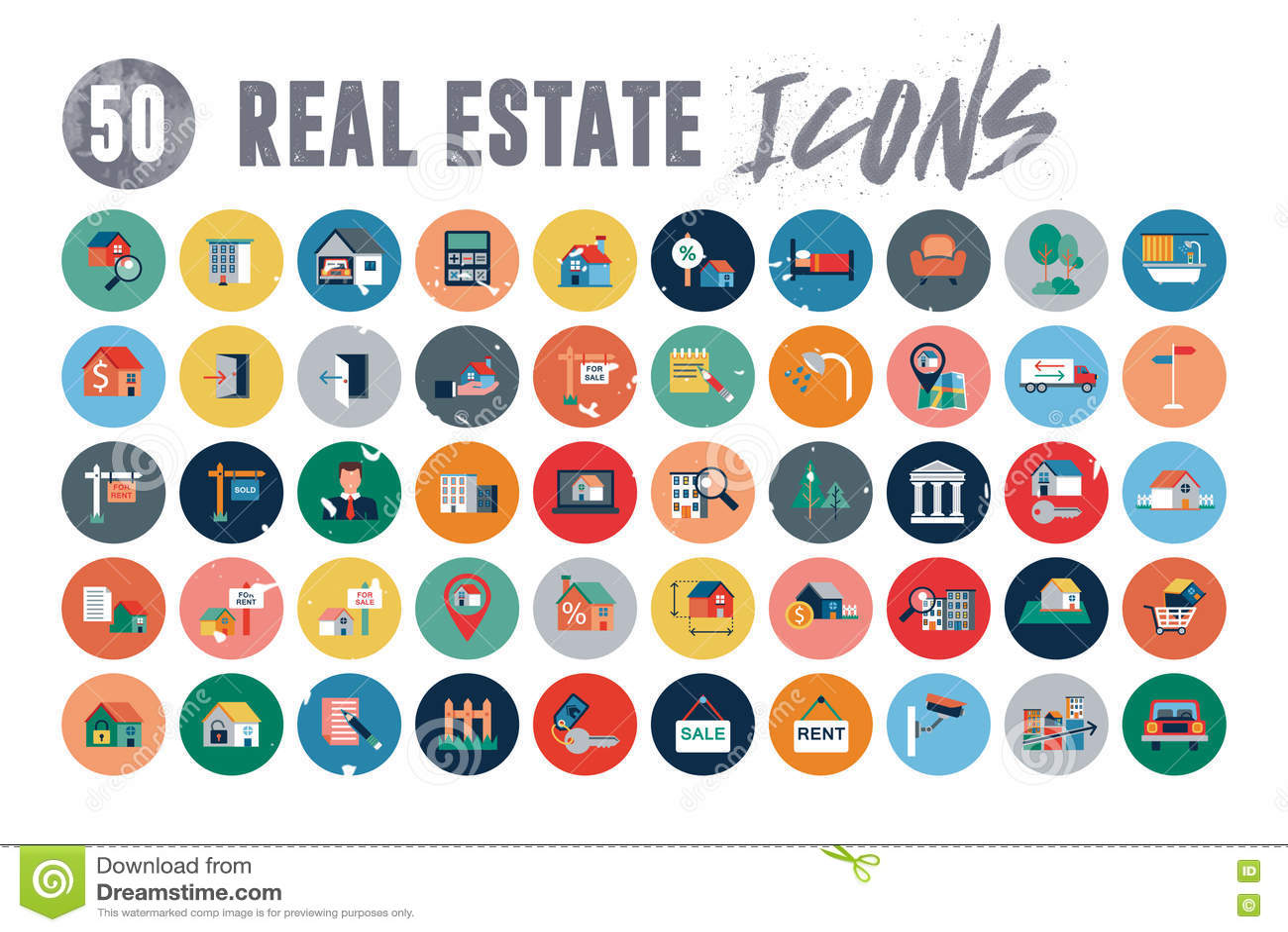 50 Real Estate symboler