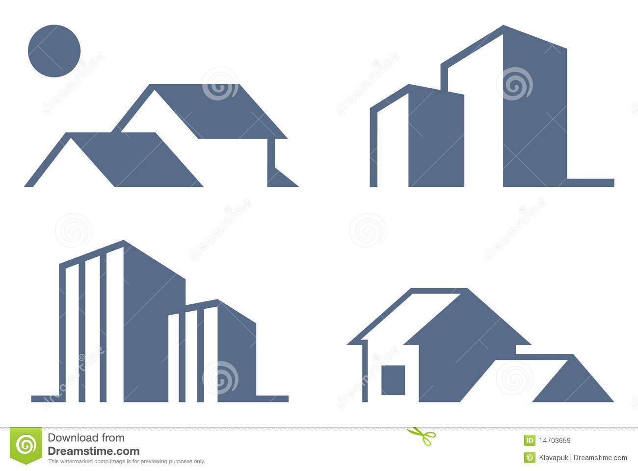 Real Estate Symbols Royalty Free Stock Images Image