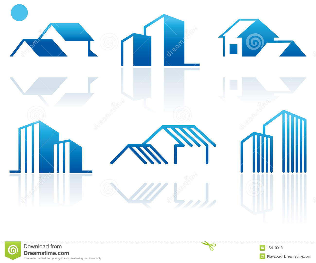 Real estate symbols stock vector illustration of design 15410918 real estate symbols biocorpaavc Image collections